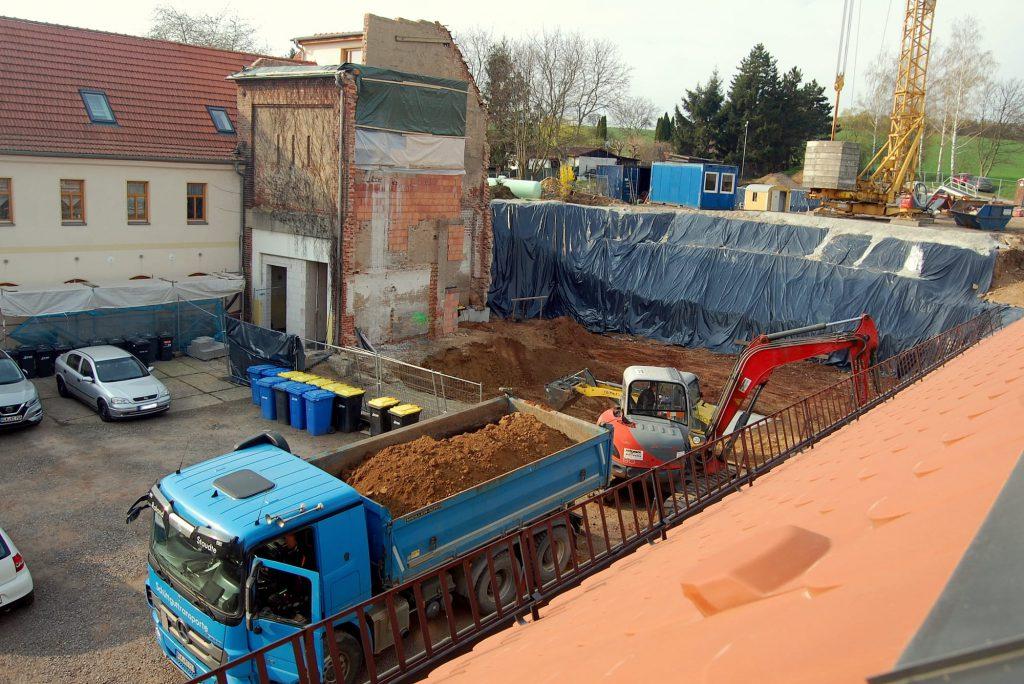 Baugrube im April 2019