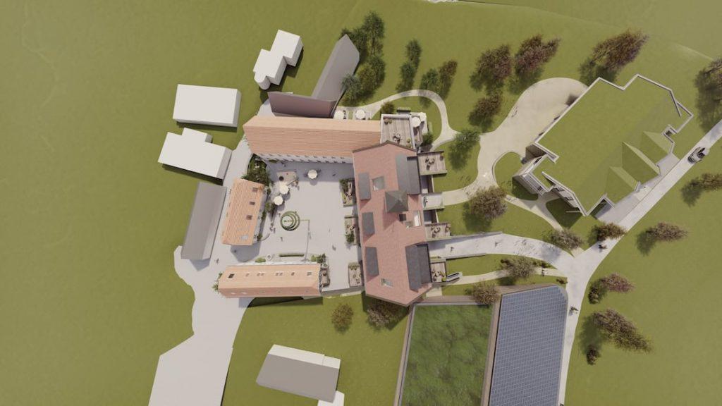 MGH Burtschuetz-201908 - Visualisierung - Draufsicht Gesamtkomplex