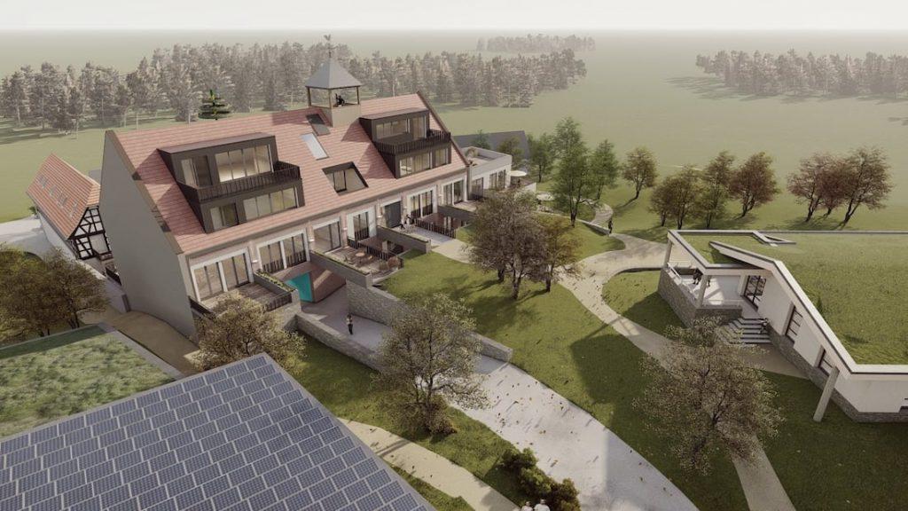 Zusammenhang mit Mehrzweckgebäude und Parkhaus