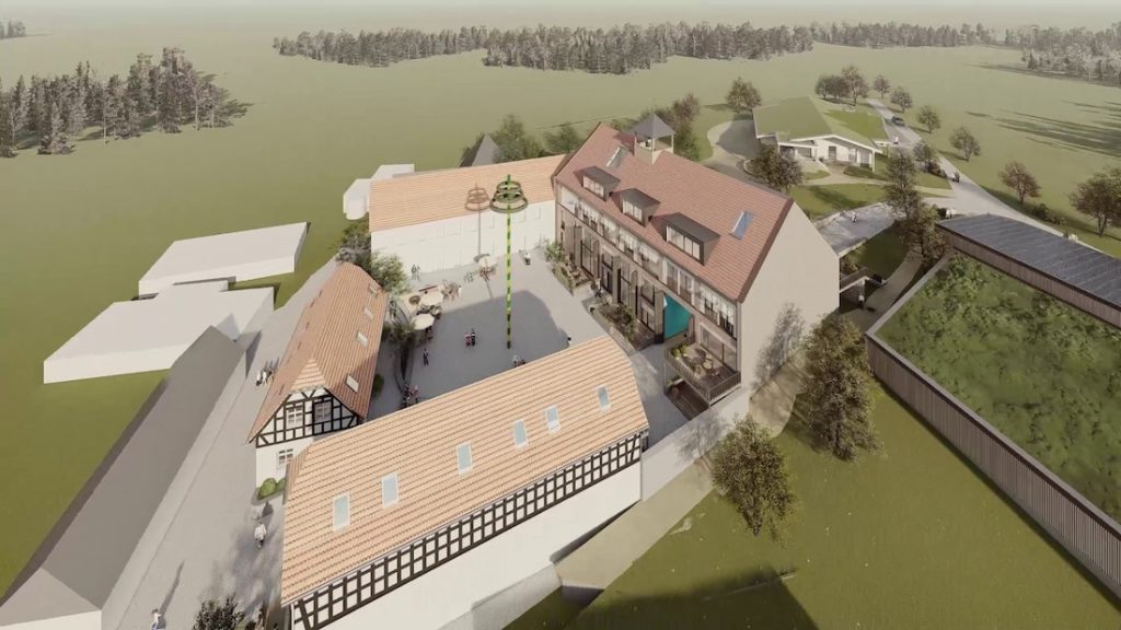 MGH-Burtschuetz-201909-Visualisierung-Hofkomplex-von-Nord