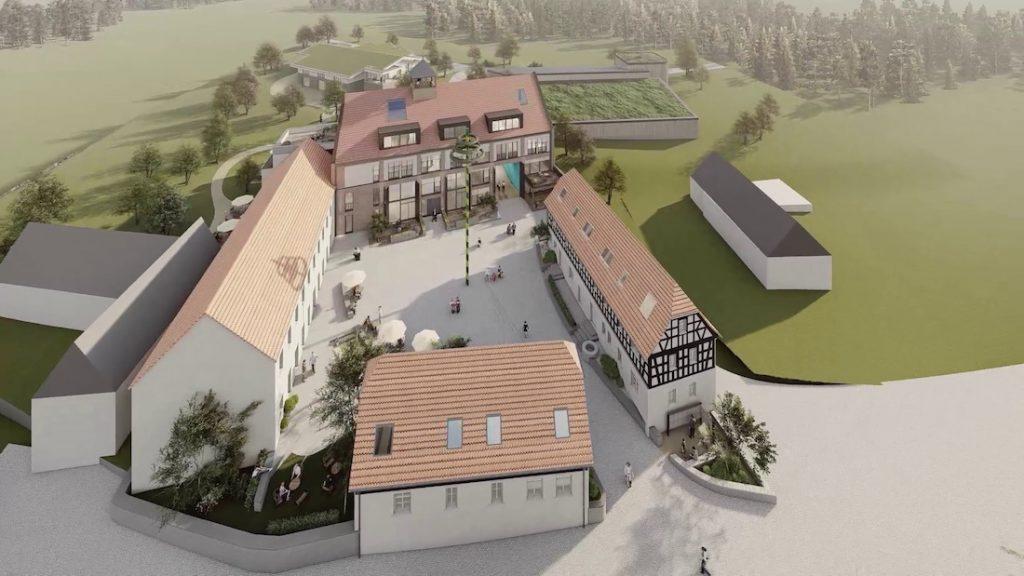 MGH-Burtschuetz-201909-Visualisierung-Hofkomplex-von-Ost
