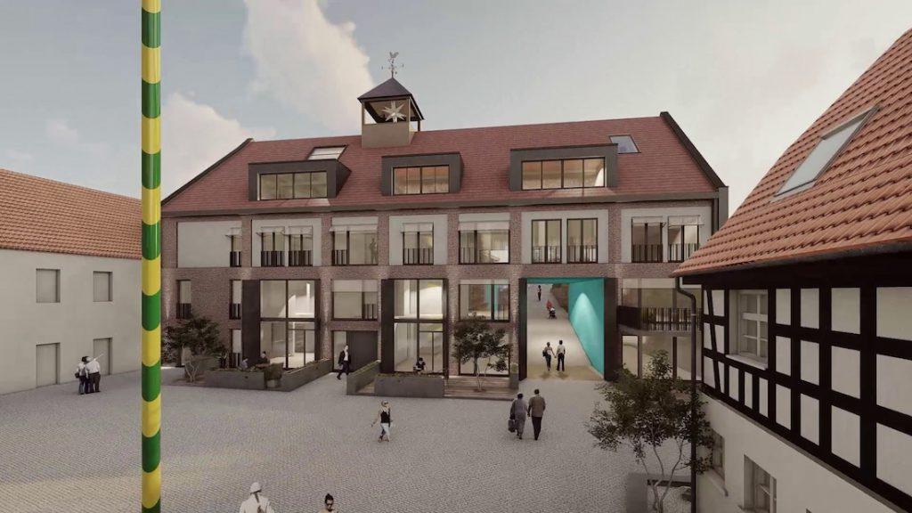 MGH-Burtschuetz-201909-Visualisierung-Neue-Scheune-vom-Hof-aus
