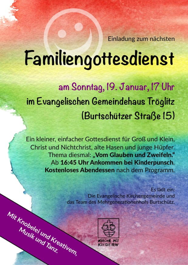 Flyer Familiengottesdienst 19.1.