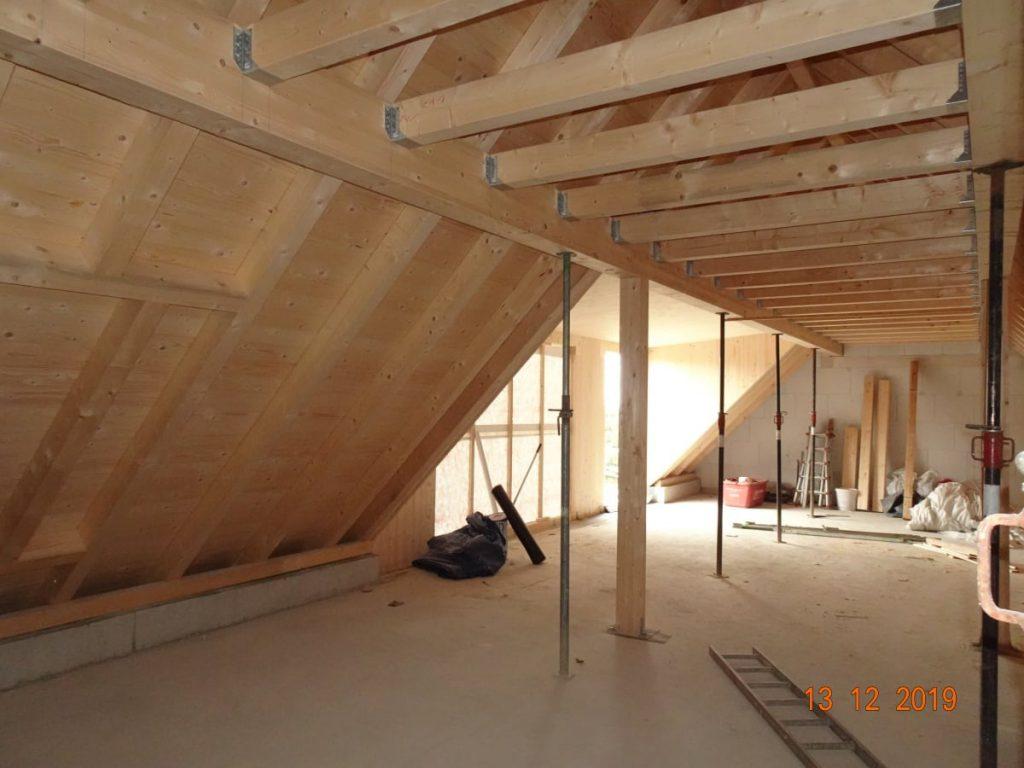 MGH Burtschuetz-201912 - Baufortschritt Neue Scheune Dachgeschoss