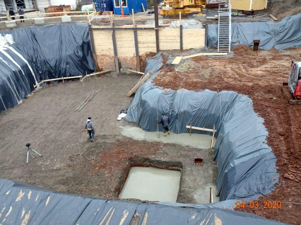 MGH Burtschuetz-202003 - Baugrube Mehrzweckgebäude