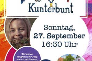 Kirche Kunterbunt am 27.9.