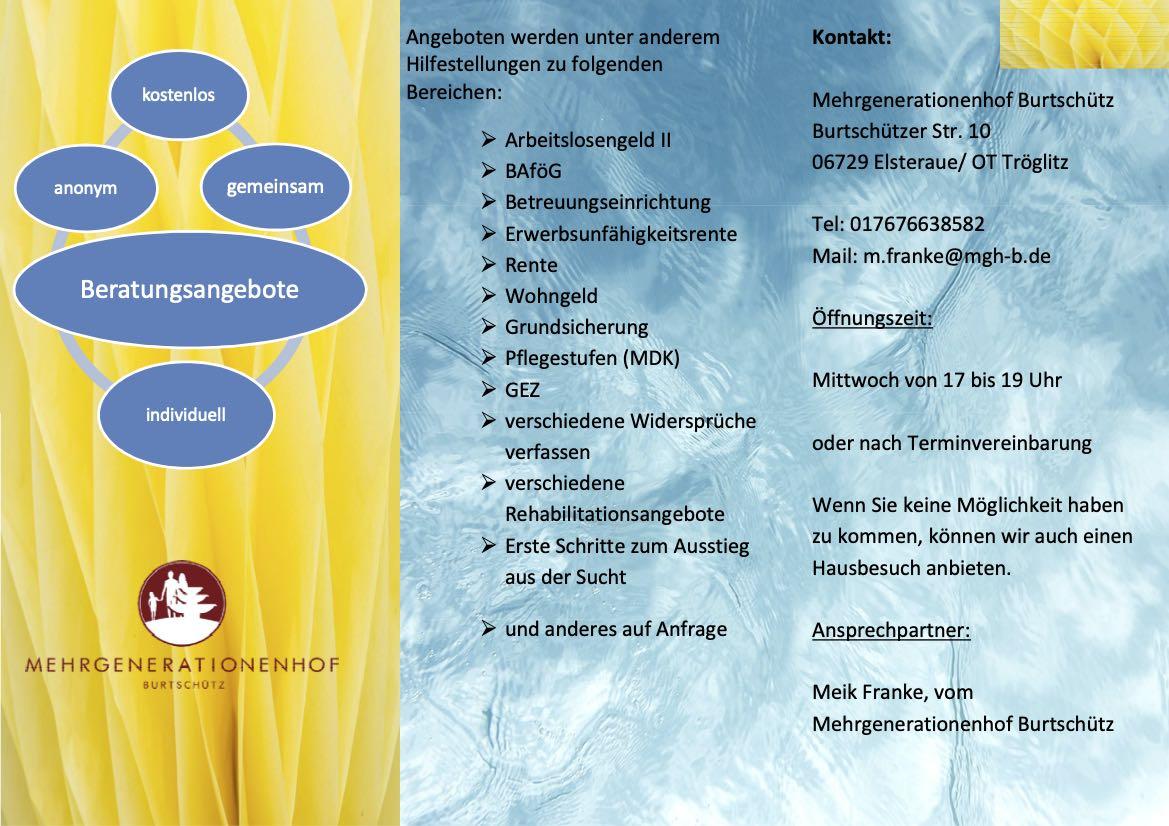 Infos zur Beratungsstelle MGH Burtschütz