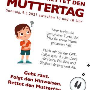 """""""Tröglitz rettet den Muttertag"""": Dorfrallye am 9.5.2021!"""