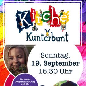 Kirche Kunterbunt am Sonntag, 19.9.2021