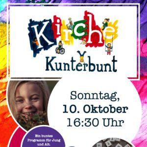Kirche Kunterbunt am Sonntag, 10.10.2021